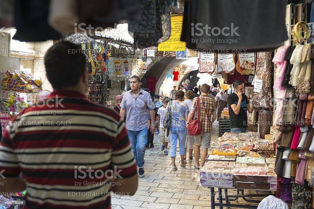 Muslim Quarter Old City Jerusalem royalty-free stock photo