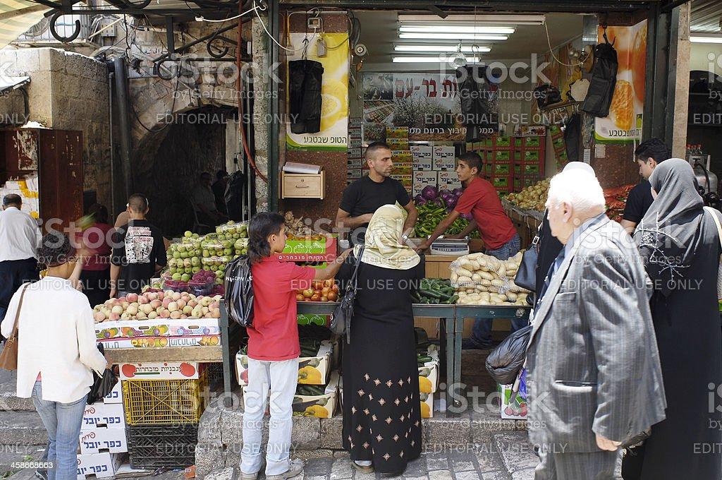 Muslim Souk, Jerusalem royalty-free stock photo
