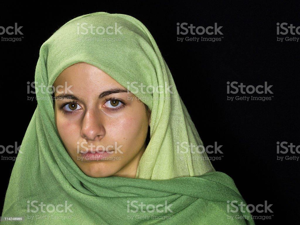 Muslim Teenage girl stock photo