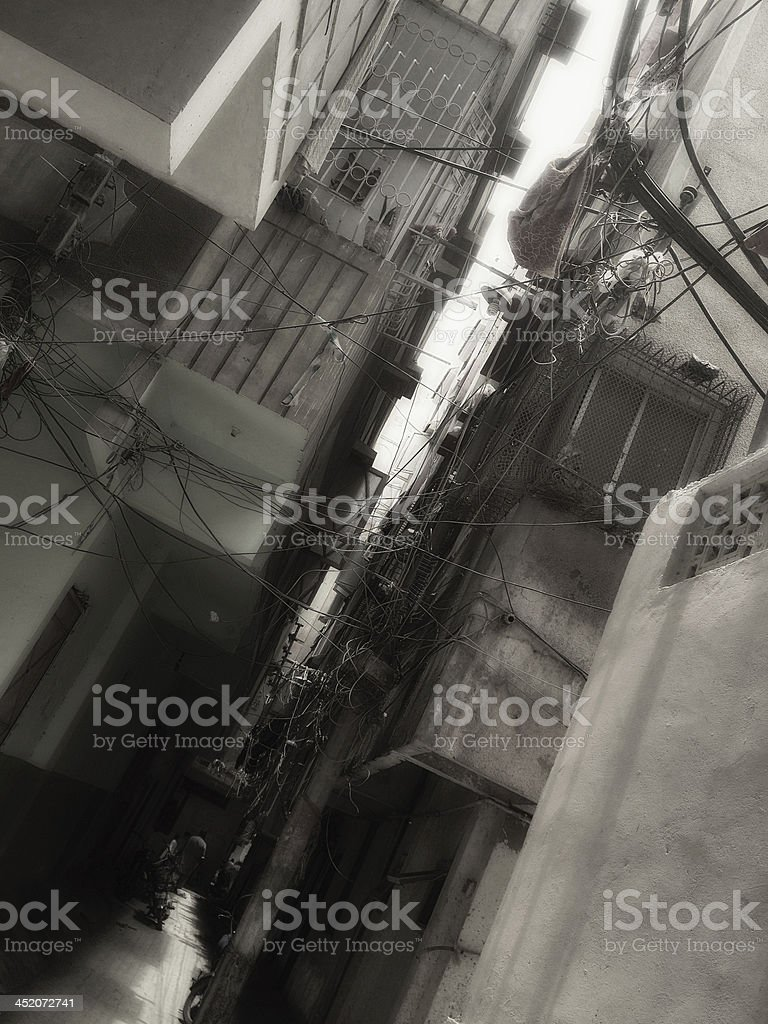 Muslim Urban Neighborhood stock photo