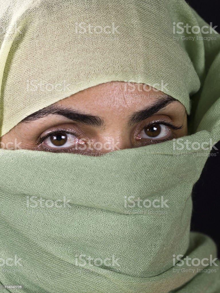 Muslim Woman close up royalty-free stock photo
