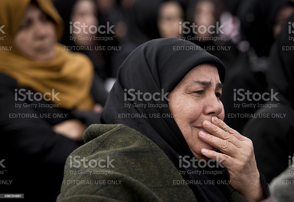 Muslim Woman Crying stock photo