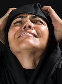 Muslim Woman Crying