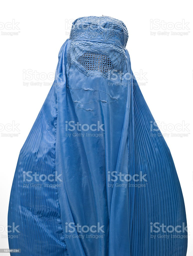 Muslim woman wearing a burka stock photo