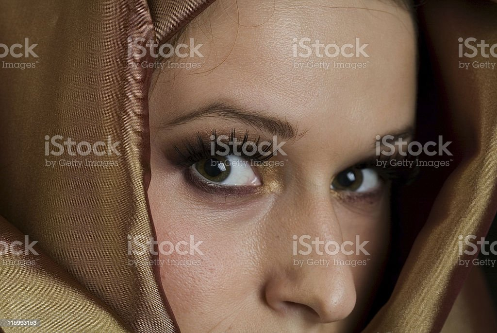 Muslim Woman with a Veil stock photo