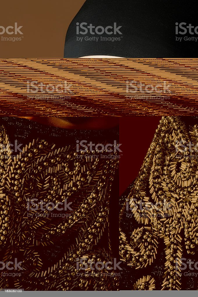 Muslim woman with head covering royalty-free stock photo