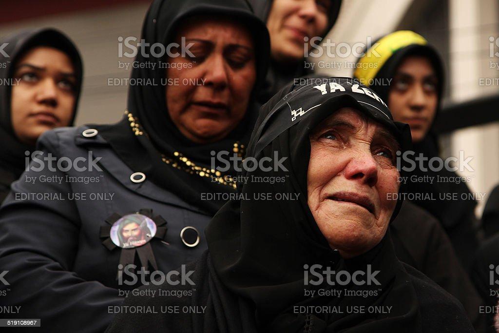 Muslim Women are crying stock photo