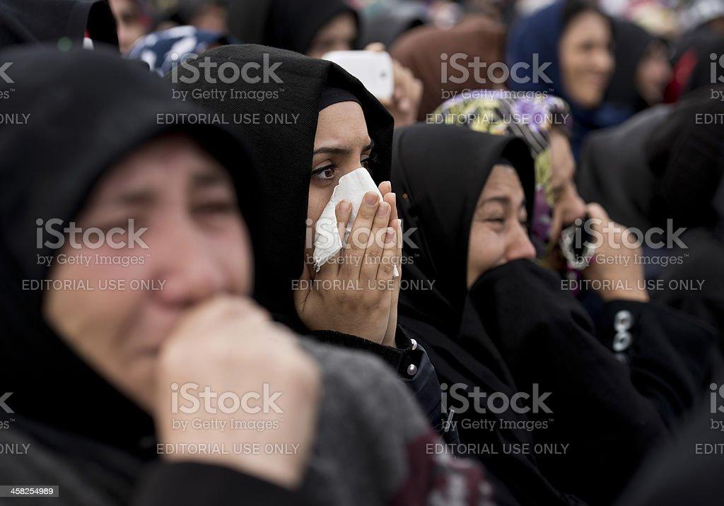 Muslim Women Crying stock photo