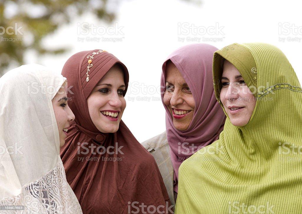 Muslim women royalty-free stock photo