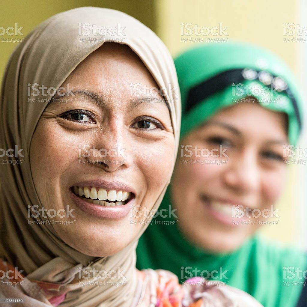 Muslim women stock photo