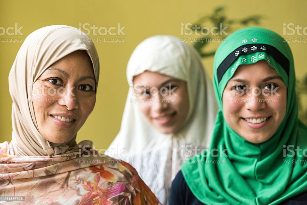 Muslim women stock photo