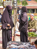 Muslim Women Speaking Burqa Hijab Niqab Chador Man Lifestyle