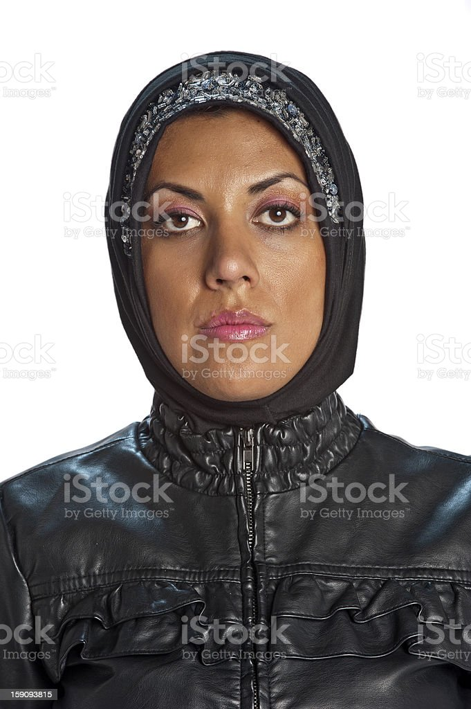 Muslim Young Woman stock photo