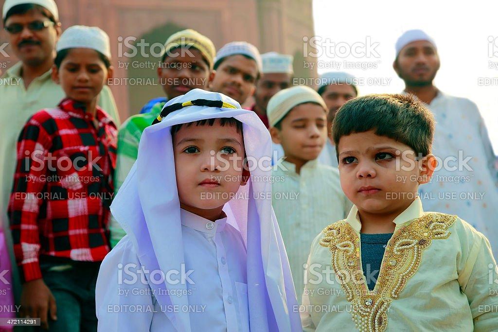 Muslims boys stock photo