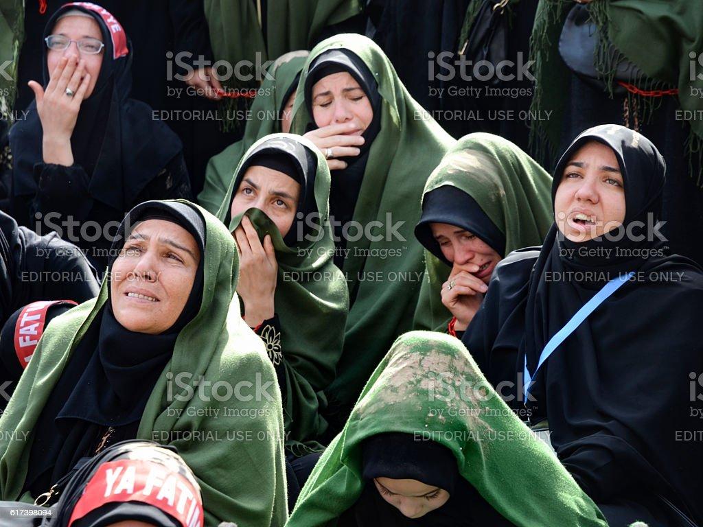 Muslims worldwide marks Ashura Istanbul Shiite community. stock photo