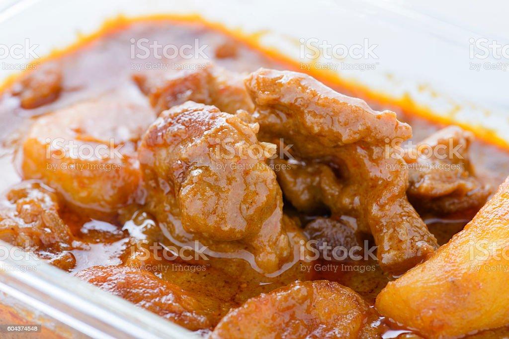 Mus-sa-mun Curry stock photo