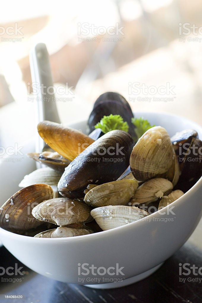 Mussels and Clams royalty-free stock photo