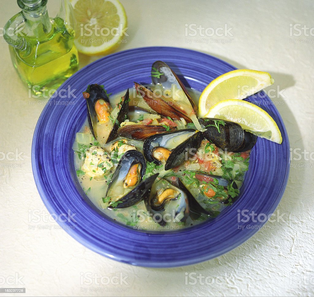 Mussels in Creamy Sauce stock photo