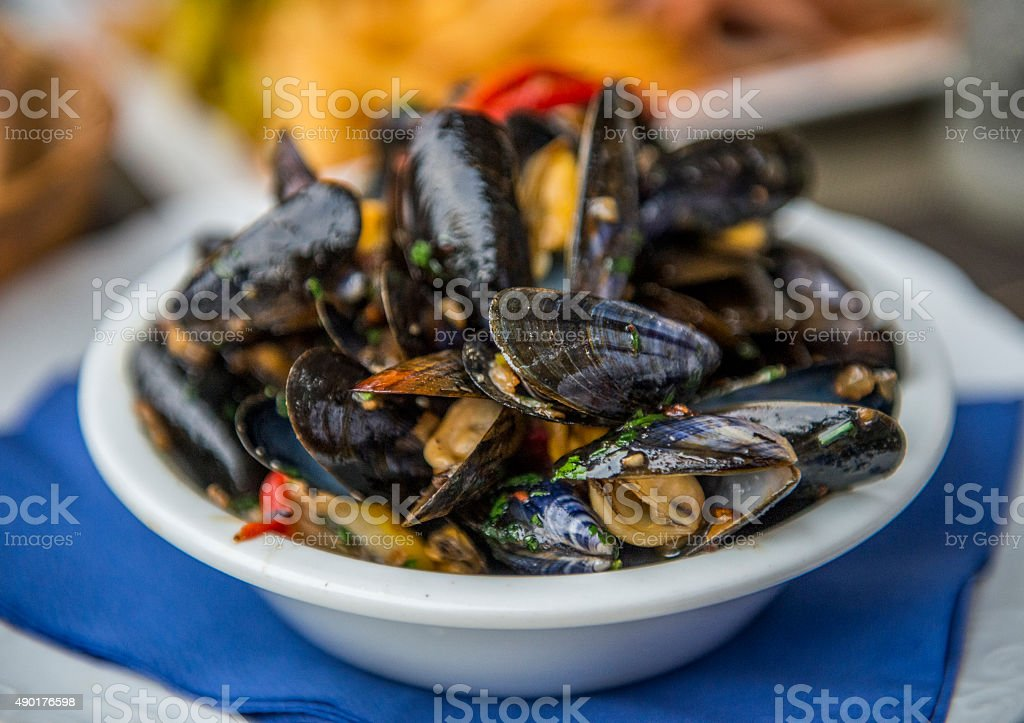 Moules stock photo