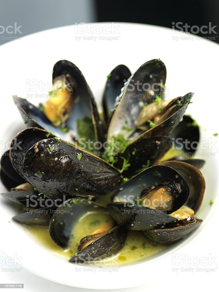 Mussels Provencal stock photo