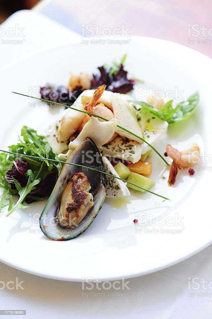 mussels salad royalty-free stock photo