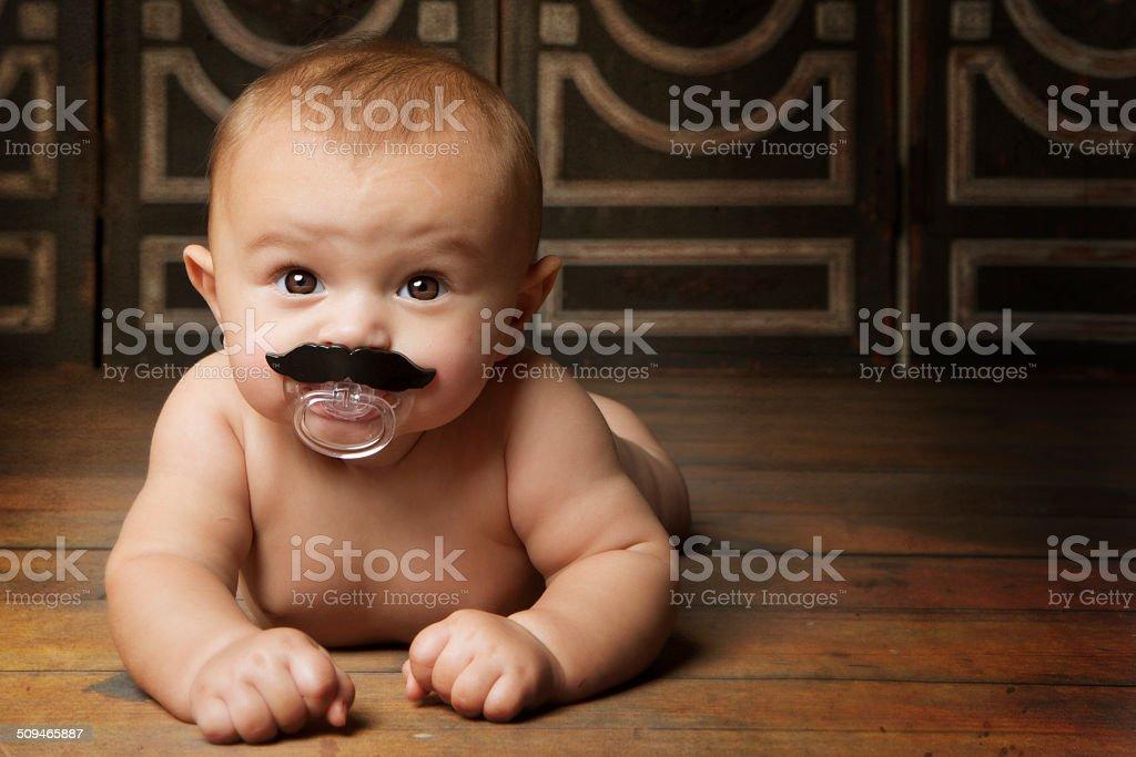 Mustache Baby stock photo