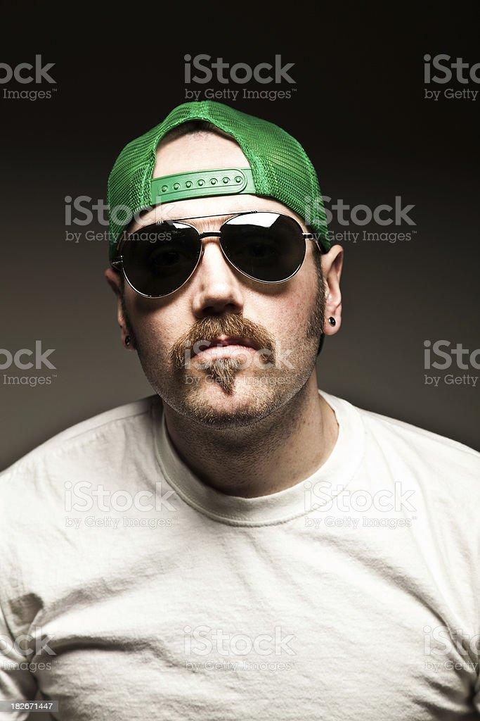 Mustache Guy Portrait royalty-free stock photo