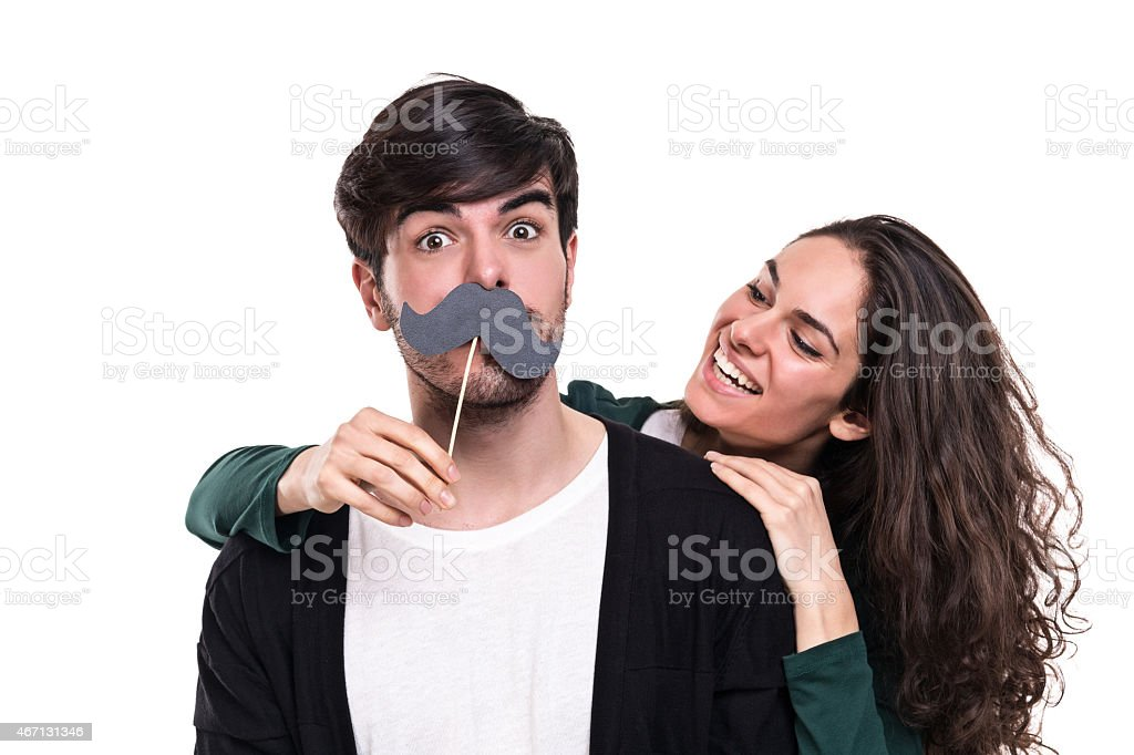 Mustache stock photo