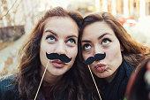 Mustaches selfie