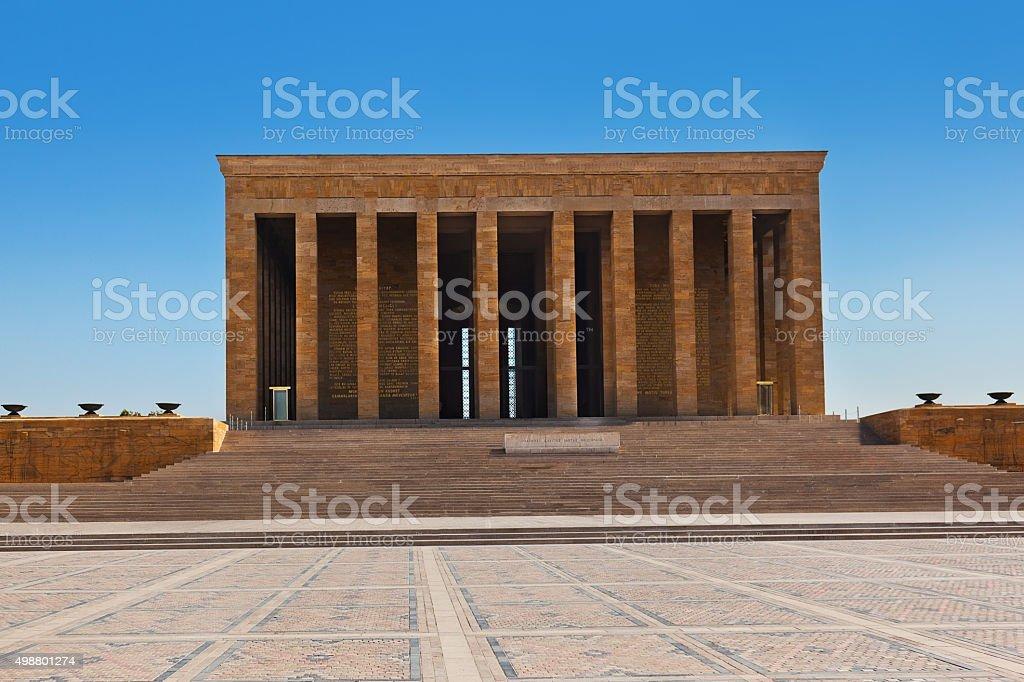 Mustafa Kemal Ataturk mausoleum in Ankara Turkey stock photo