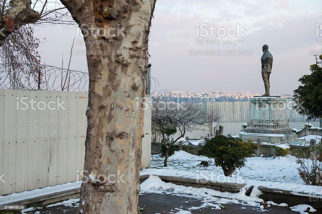 Mustafa Kemal Ataturk statue in Istanbul, Turkey stock photo