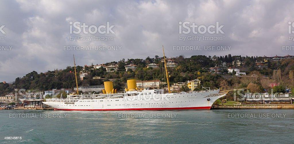 Mustafa Kemal Ataturk yacht MV Savarona royalty-free stock photo