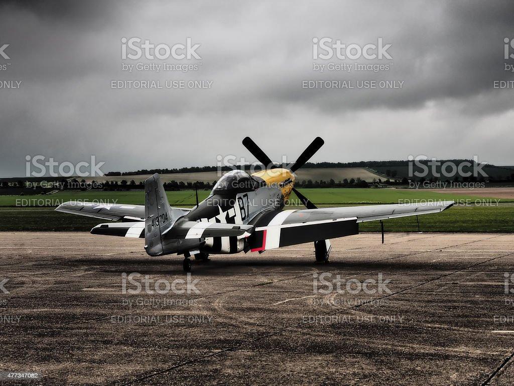 P51 Mustang aircraft stock photo