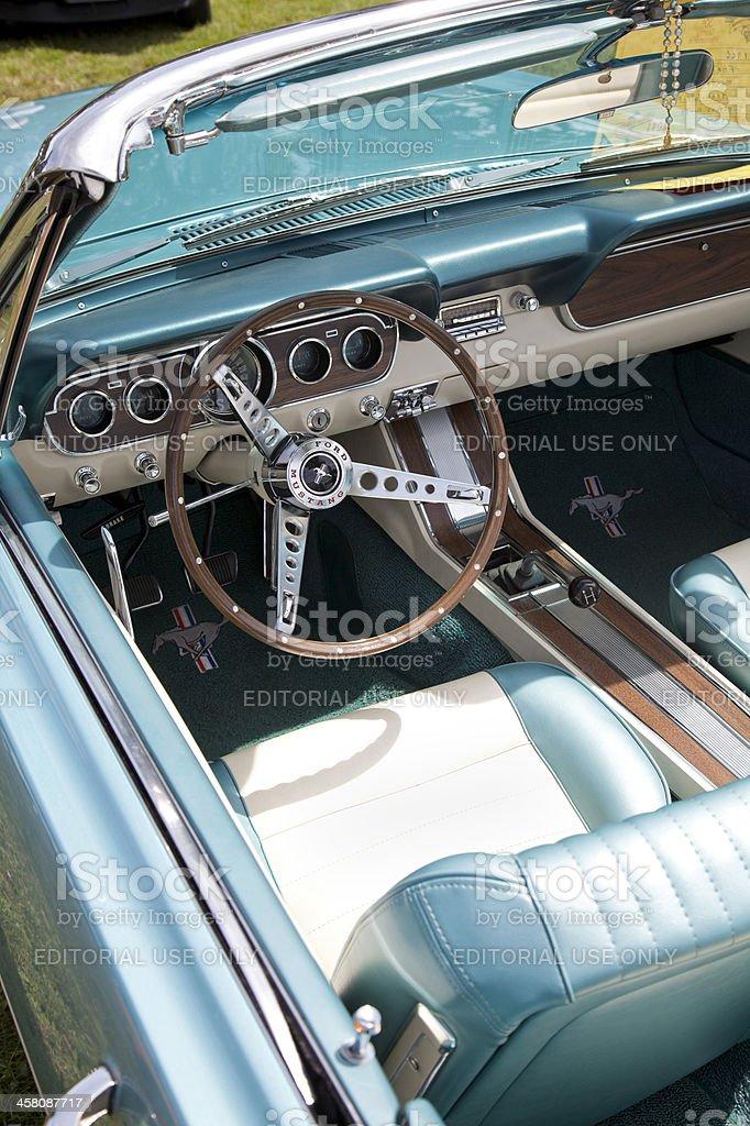Mustang convertible stock photo
