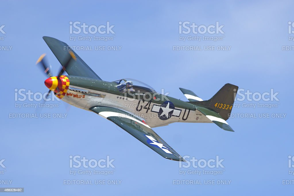 P-51 Mustang during 2015 Los Angeles Air Show stock photo