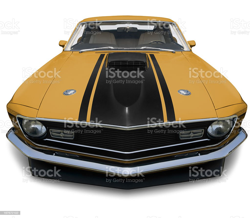 Mustang Fastback 1970 Muscle Car - XXXLarge stock photo