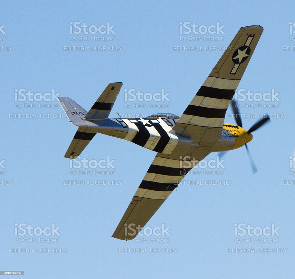 P-51 Mustang Fighter Bomber stock photo