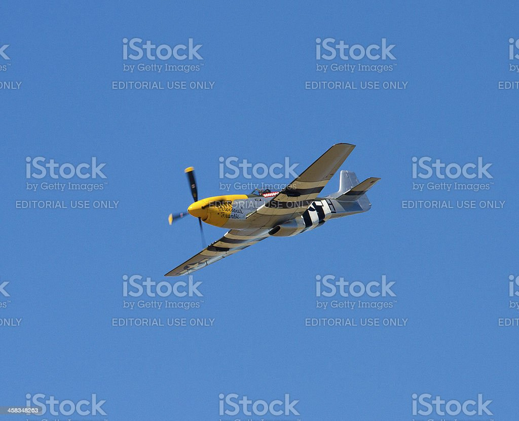 US Mustang fighter bomber stock photo
