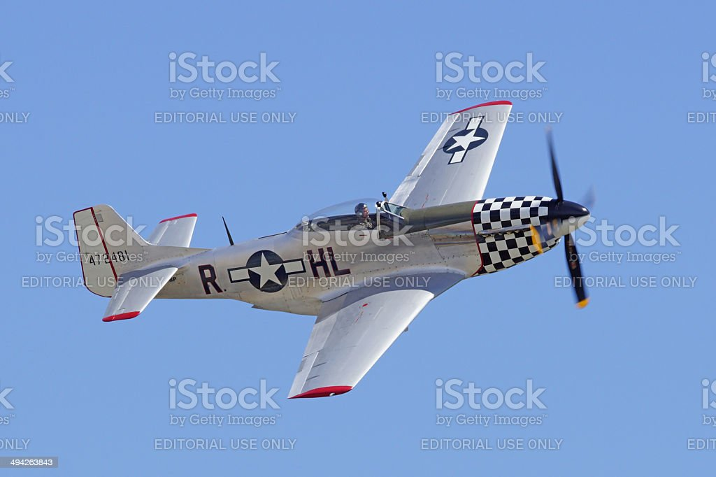 P-51 Mustang fighter stock photo