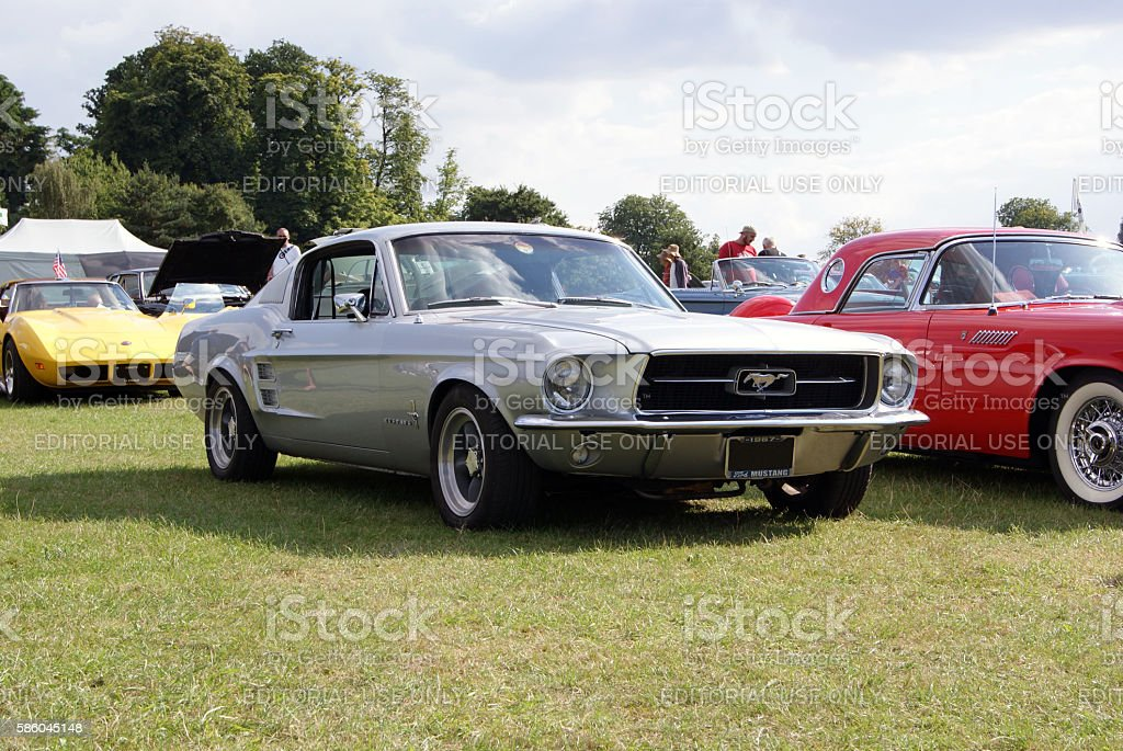 Mustang GT At Classic Car Show stock photo