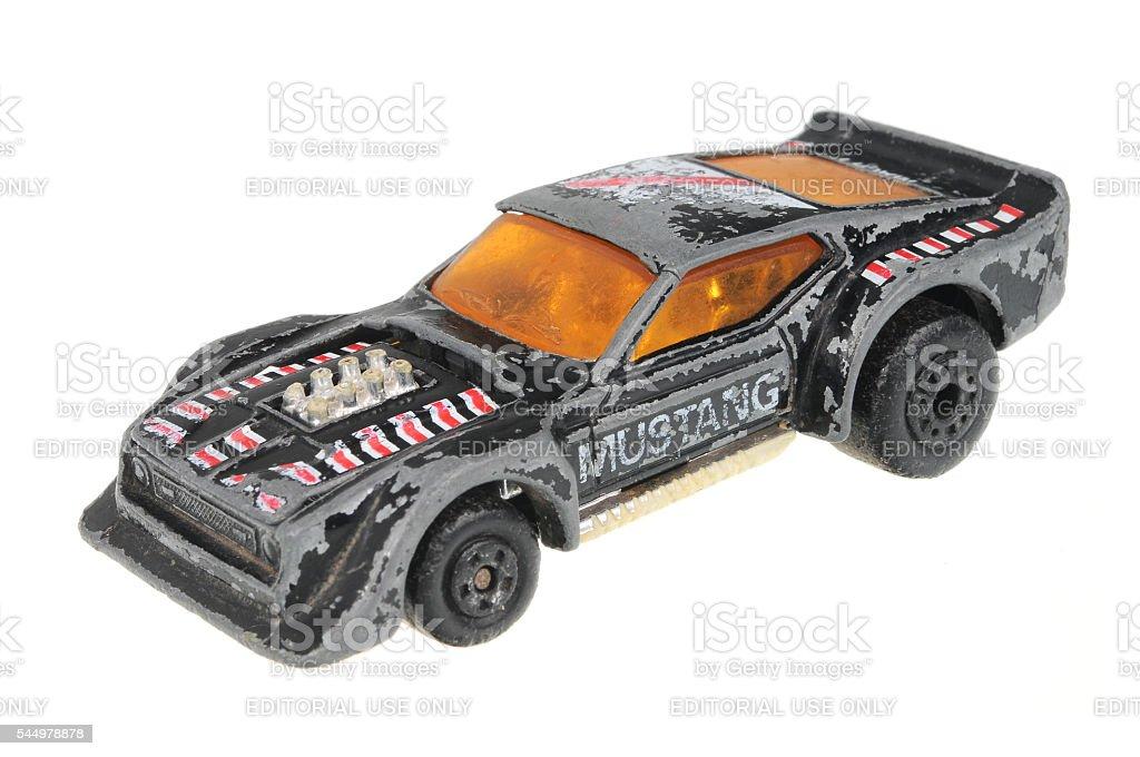 1983 IMSA Mustang Matchbox Diecast Toy Car stock photo