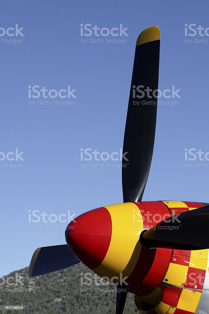 P-51 Mustang Nose stock photo