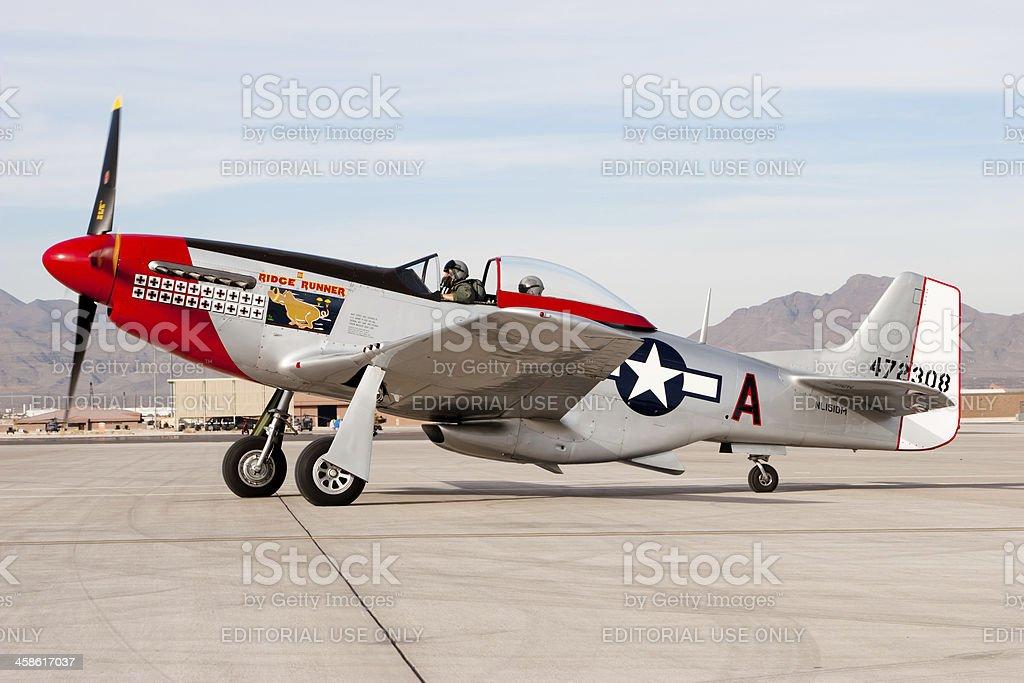P-51D Mustang stock photo