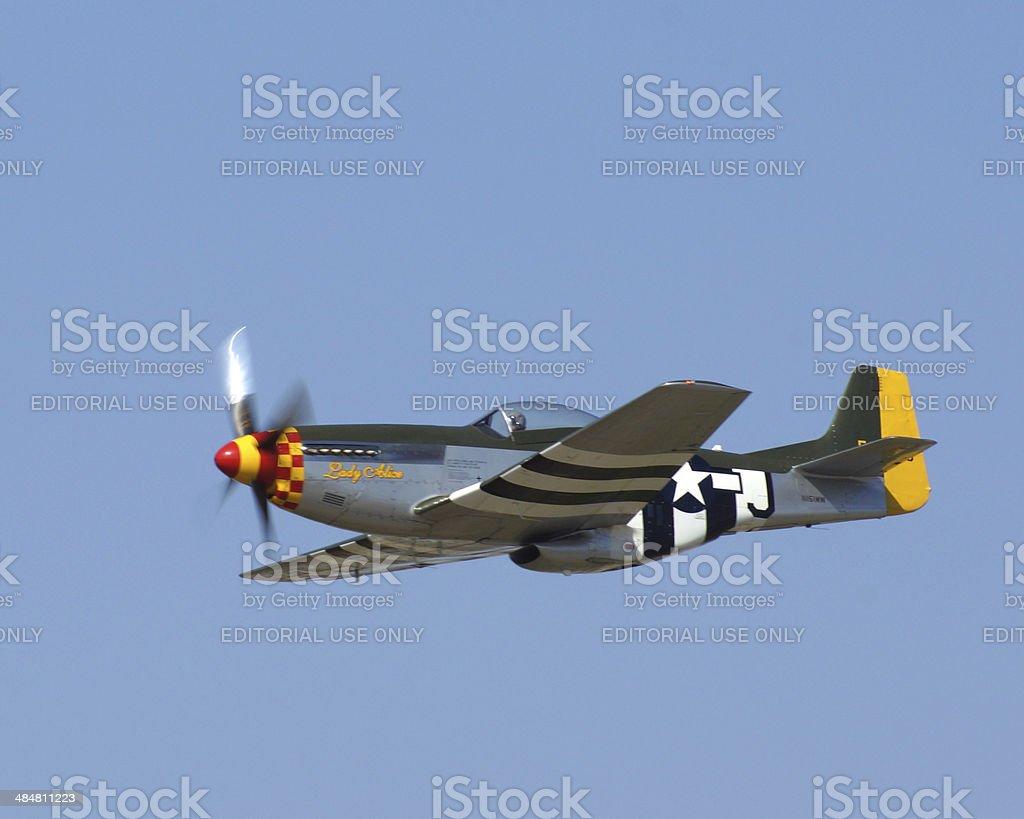 P-51 Mustang stock photo