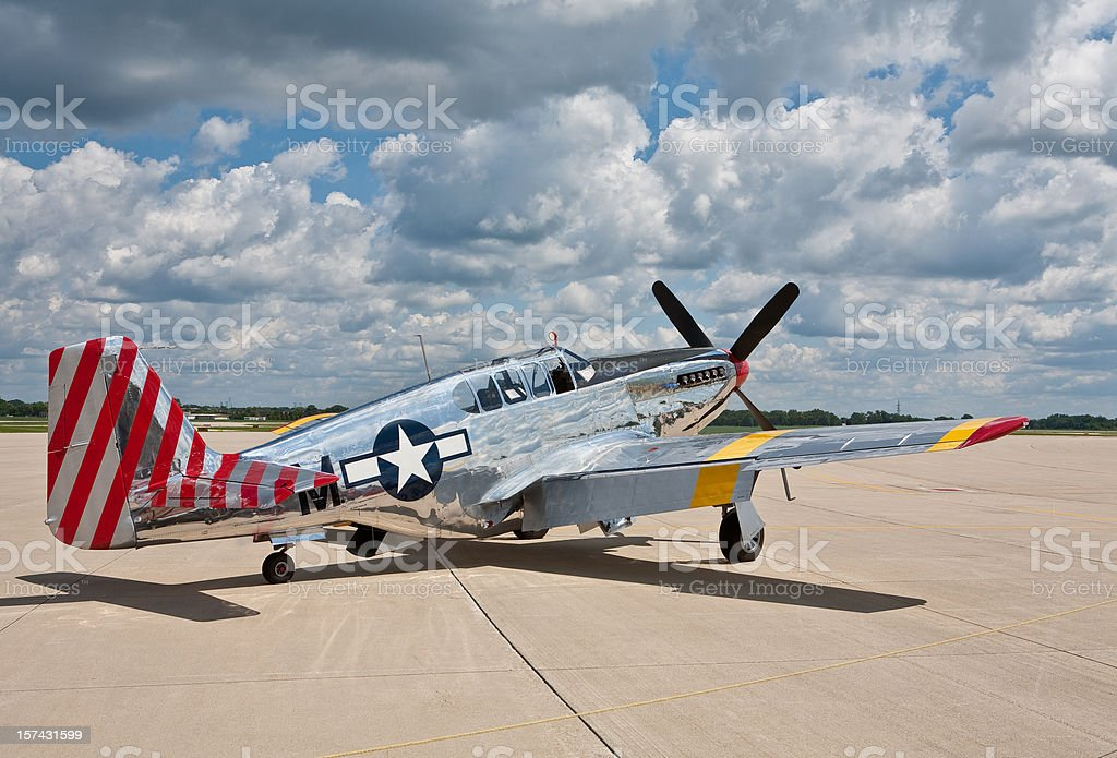 P51 Mustang WW2 Fighter plane two stock photo