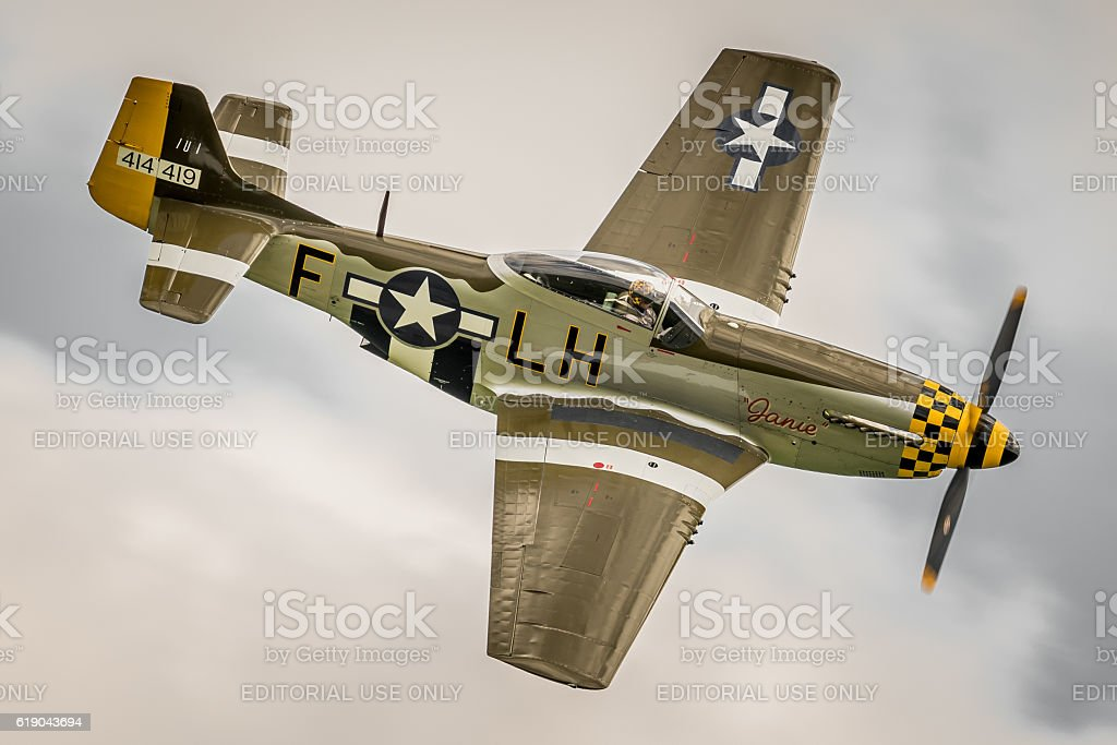 P-51 Mustang WWII fighter aircraft stock photo