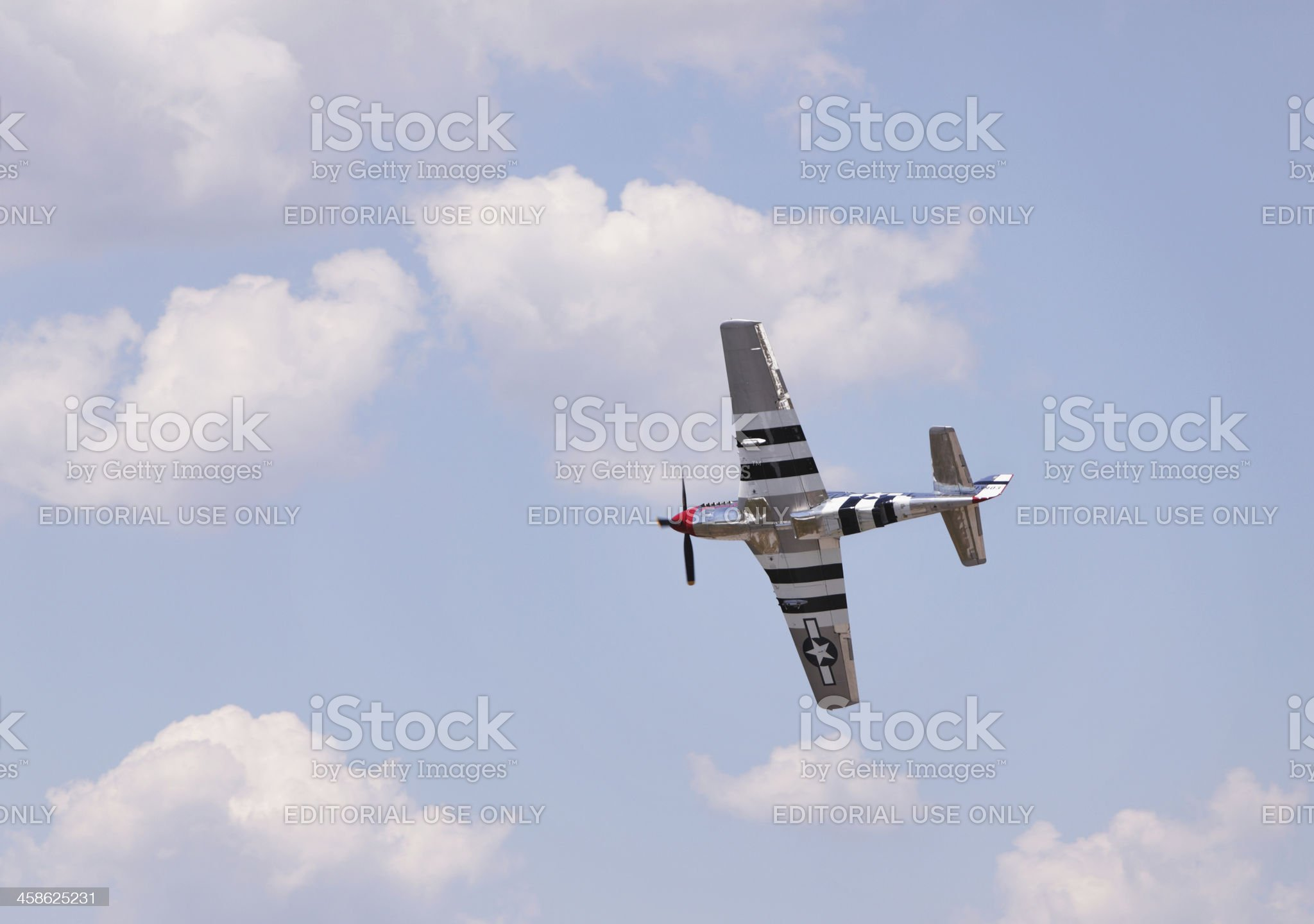 P-51 Mustang WWII Vintage Military Airplane at Airshow royalty-free stock photo