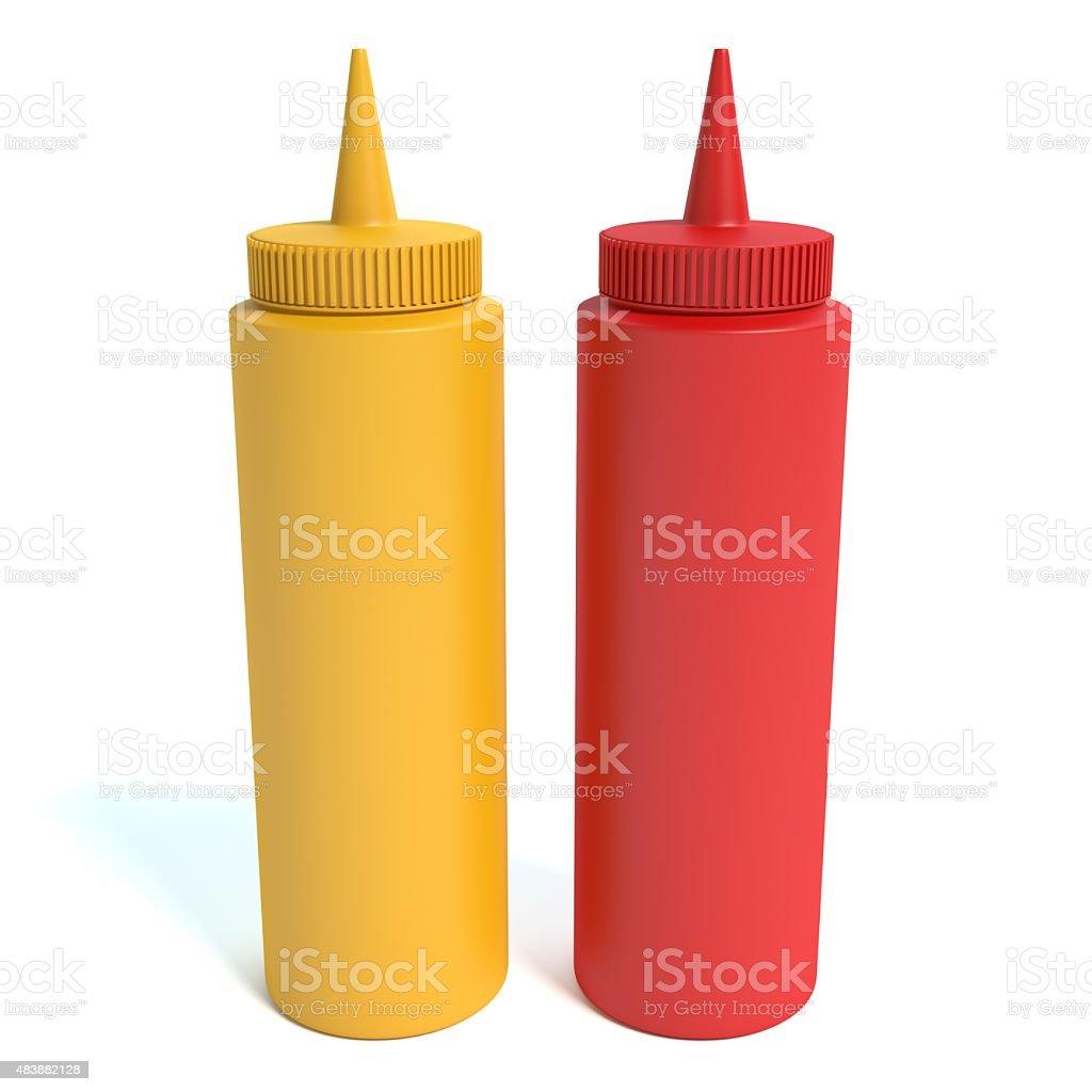 Mustard and Ketchup stock photo