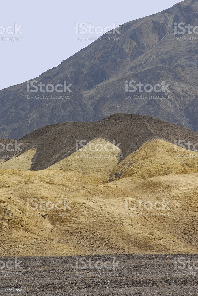 Mustard Canyon Death Valley National Park stock photo