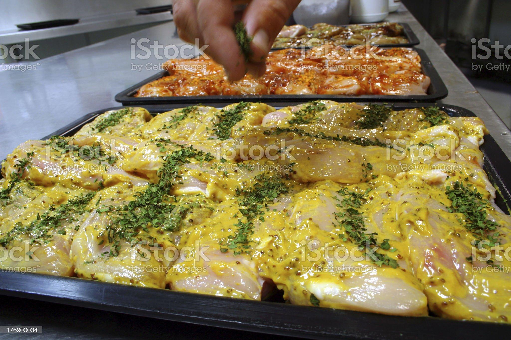 Mustard chicken fillet steaks 2 royalty-free stock photo